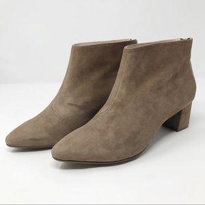 Sudini Bria Suede Booties Size 6W